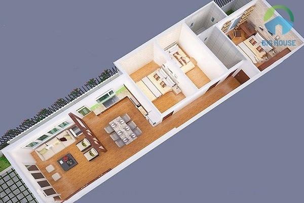 nhà cấp 4 mái thái 3 phòng ngủ hiện đại