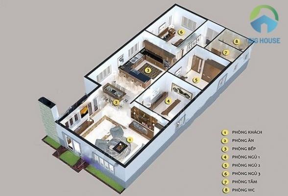 nhà cấp 4 mái thái 3 phòng ngủ giá rẻ