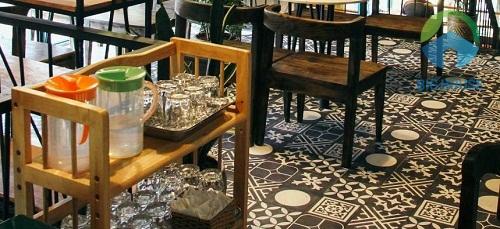 Gạch lát nền quán cà phê đẹp