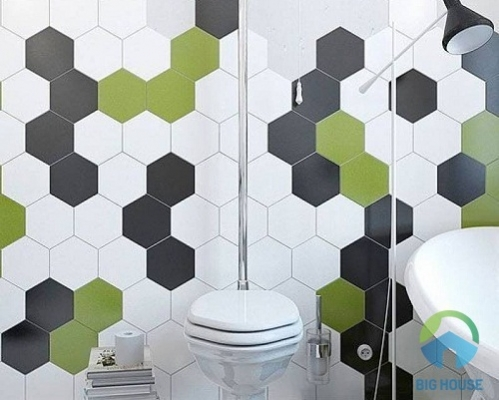 gạch mosaic lục giác 3