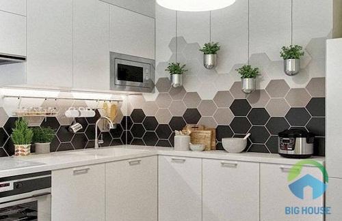 gạch mosaic lục giác 8
