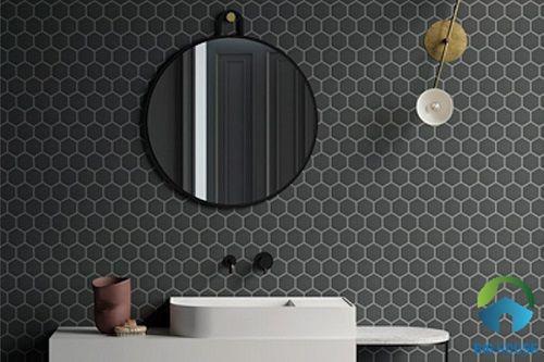 Mẫu gạch mosaic màu đen sang trọng