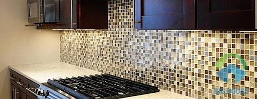 Không gian phòng bếp sang trọng hơn với mẫu gạch này