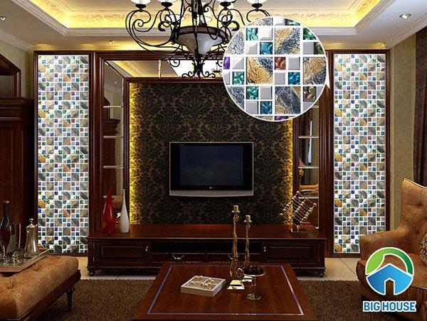 Gạch mosaic đa sắc ấn tượng và nổi bật