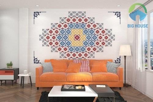 Gạch bông trang trí đa sắc màu ấn tượng