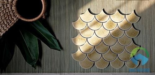 gạch mosaic vảy cá