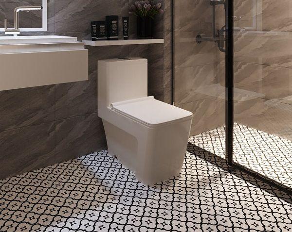 Mẫu gạch bông lát nền nhà tắm Đồng Tâm 2020HOAMY001 họa tiết đơn giản nhưng vẫn rất nổi bật