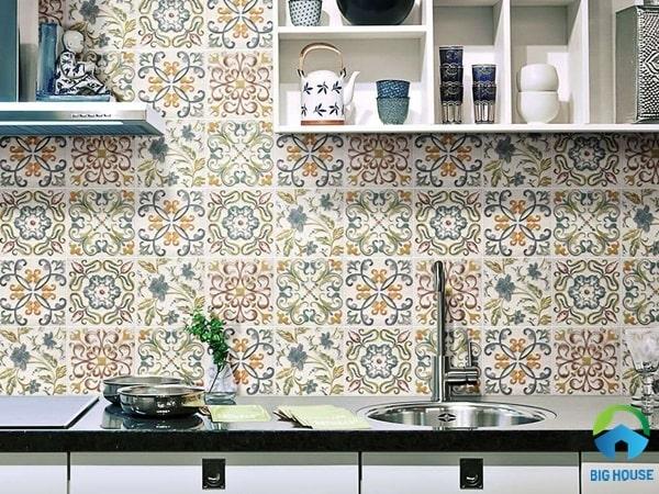 Gạch bông ốp bếp họa tiết Maroc