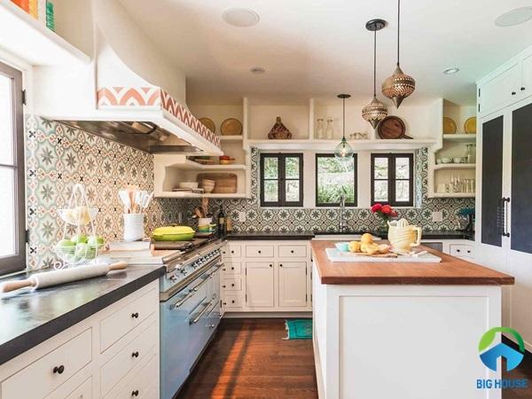 Gạch bông trang trí bếp đẹp cao cấp cho phòng bếp