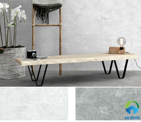 Gạch ốp tường Eurotile ANN G01 kết hợp với gạch lát sàn Eurotile ANN G03