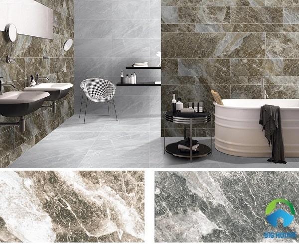 Gạch eurotile HOD G02 và HOD G03 họa tiết vân đá mạnh mẽ