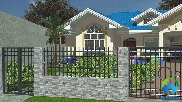 gạch ốp tường rào đẹp 2