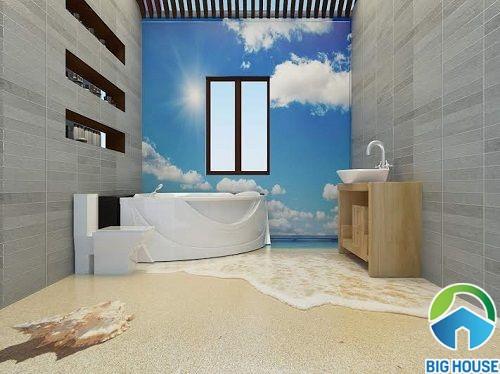 gạch 3d ốp tường phòng tắm