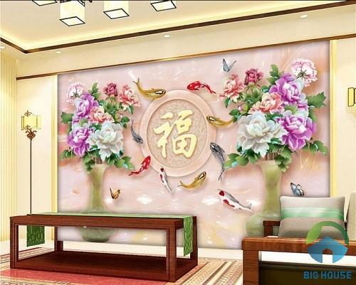 gạch 3d phong thủy chữ Hán