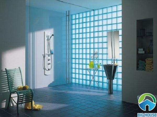 gạch ốp tường xanh dương