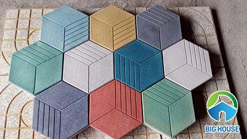 Gạch lục giác tự chèn đa màu sắc