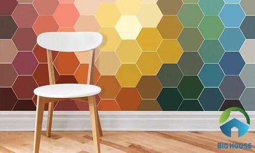 Hoặc sự kết hợp giữa nhiều gam màu sắc nổi bật với nhau cũng rất hợp lý