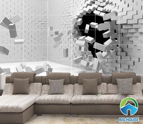 gạch 3D trang trí tường