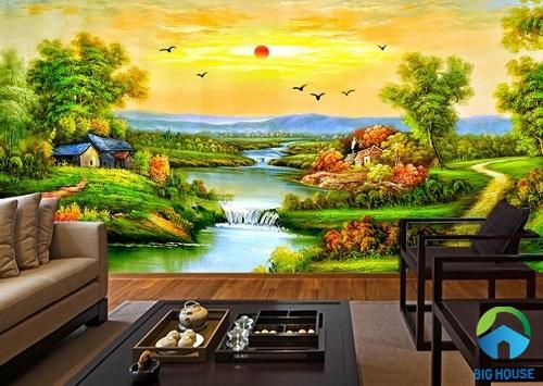 TOP 20 mẫu tranh gạch 3D đồng quê đẹp ấn tượng nhất