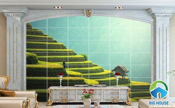 tranh gạch 3d phong cảnh