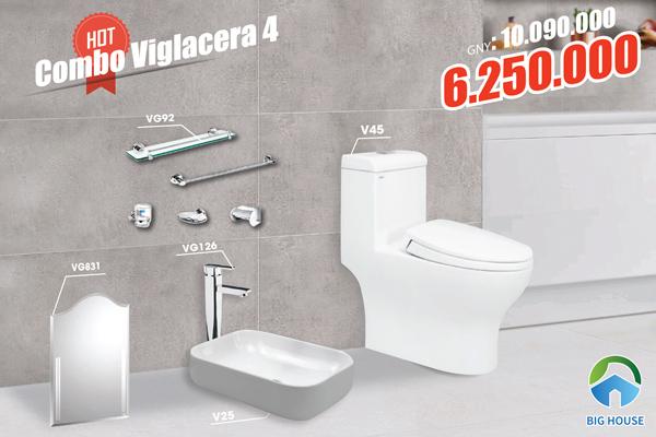 Combo thiết bị vệ sinh Viglacera 4 1