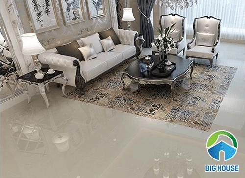 Mẫu thảm gạch bông cổ điển cho phòng khách