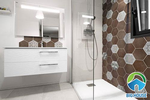 Gạch bông lục giác cho phòng tắm