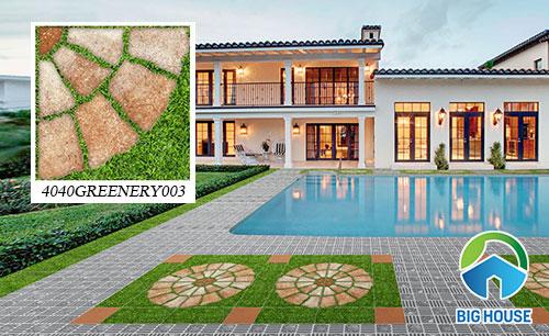 Gạch sân vườn giả cỏ Đồng Tâm 4040GREENERY003