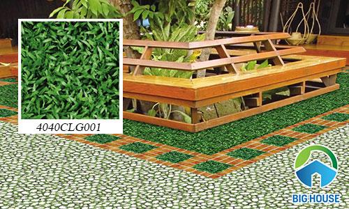 Mẫu gạch cỏ sân vườn Đồng Tâm 4040CL001 cùng 2 mẫu gạch khác