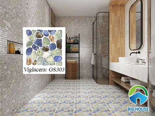 Gạch sỏi lát nền nhà tắm Viglacera GS303 chống trơn cực tốt