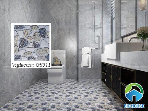 Mẫu gạch sỏi lát nhà tắm Viglacera GS311