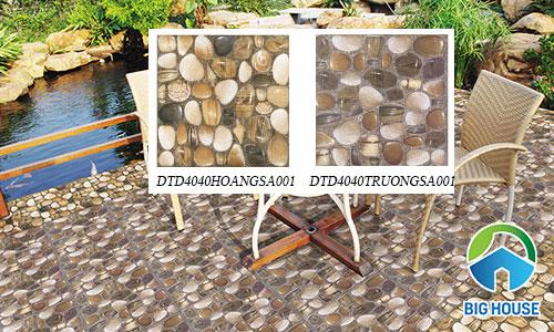 gạch sỏi Đồng Tâm DTD4040HOANGSA001 và DTD4040TRUONGSA001