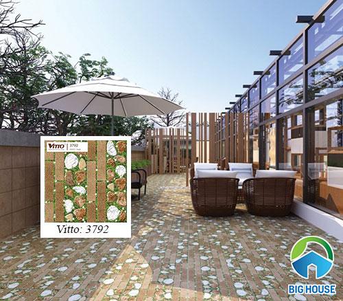 Mẫu gạch lát sân vườn Vitto 3792