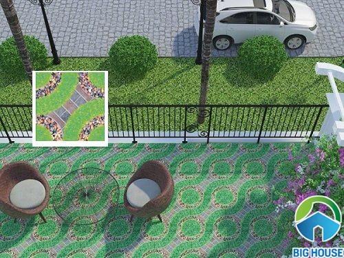 gạch sân vườn Viglacera 5521