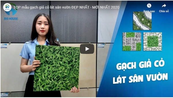 Video thực tế các mẫu gạch cỏ lát sân đẹp