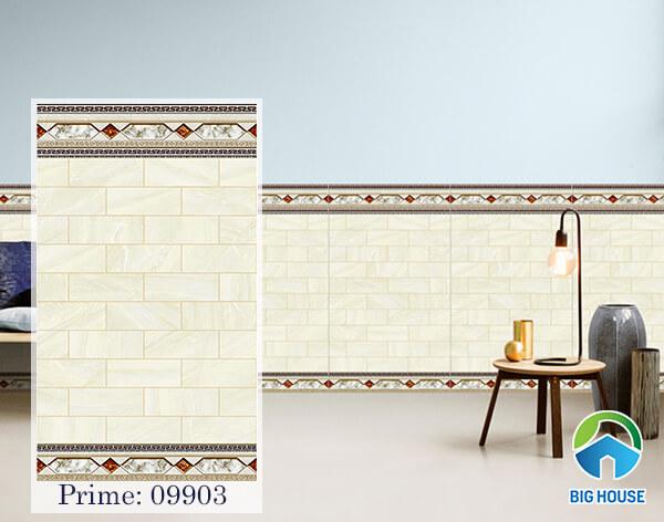 Mẫu gạch ốp chân tường giả đá 50x86 09903 của Prime họa tiết dạng thẻ