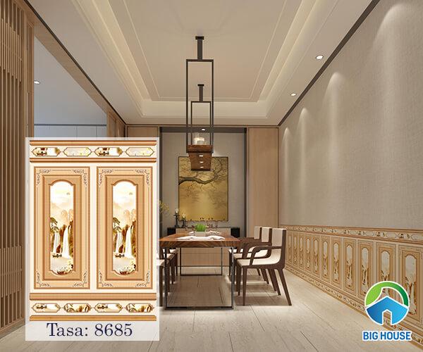 Mẫu gạch 60x86cm Tasa mã 8685 tone màu vàng