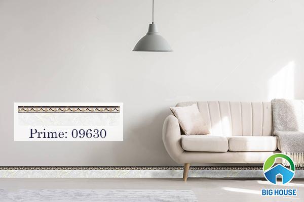 Gạch Prime ốp chân tường thấp mã 09630 kích thước 12x60 cm họa tiết vân đá
