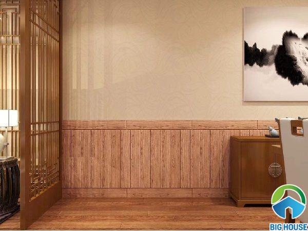 Gạch ốp chân tường vân gỗ
