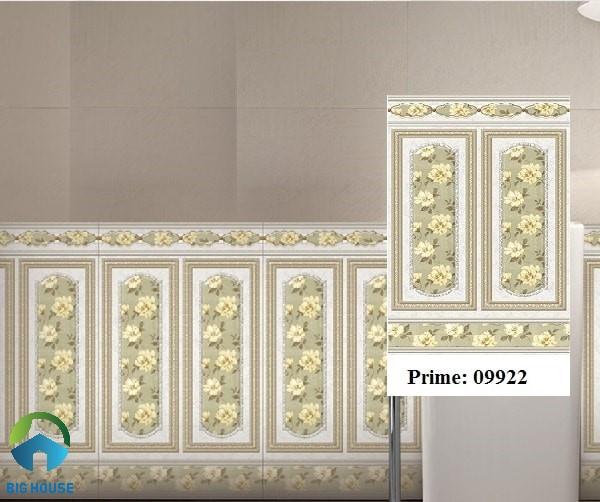 Gạch ốp chân tường Prime 09922 màu nâu nhạt, họa tiết hoa leo