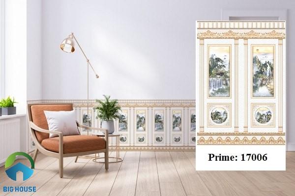 Gạch chân tường Prime 17006 gam màu hồng nhạt đơn giản, thanh lịch