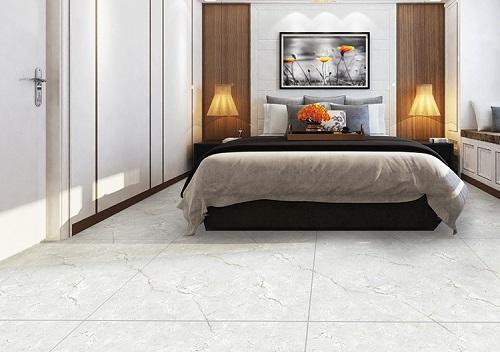 Gạch lát nền Ý Mỹ P88035 họa tiết vân đá marble trắng xám