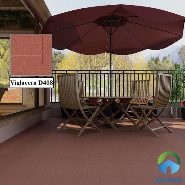 Gạch Cotto Viglacera D408 màu đỏ đậm rất được ưa chuộn hiện nay