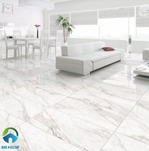 Gạch marble vân đá trắng sang trọng