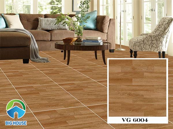 Gạch vân gỗ lát nền phòng khách Viglacera VG 6004