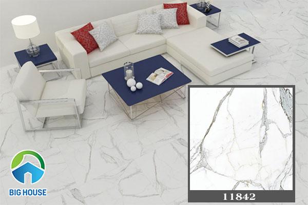 Gạch vân đá lát phòng khách kích thước lớn 80x80cm 11842