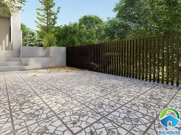 Gạch lát sân dùng để lát nền cho khu vực ngoại thất