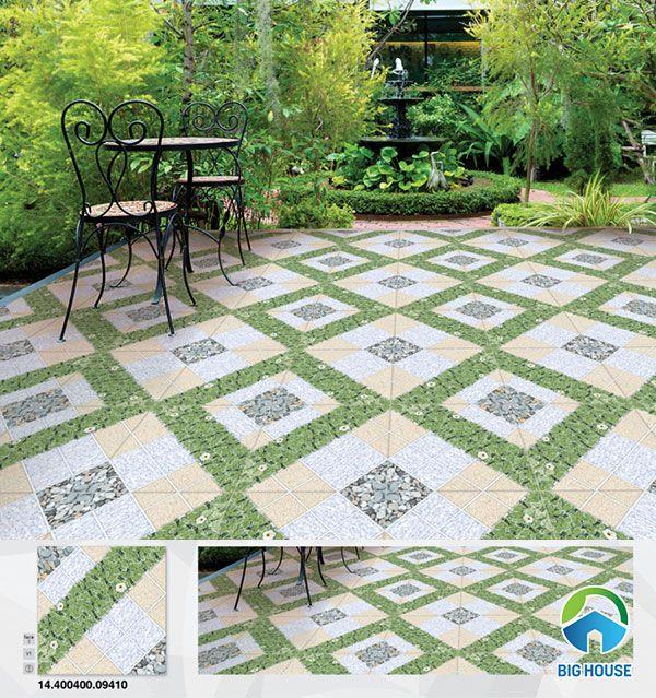 Gạch lát sân vườn Prime 40x40cm 09410 thiết kế hình khối mới lạ