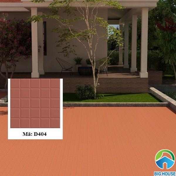 Gạch đỏ lát sân vườn Viglacera D404 bề mặt nhám định hình chống trơn cực tốt