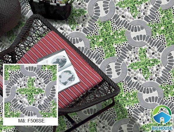 Mẫu gạch sân vườn Ý Mỹ mã F506SE bề mặt định hình với họa tiết độc đáo